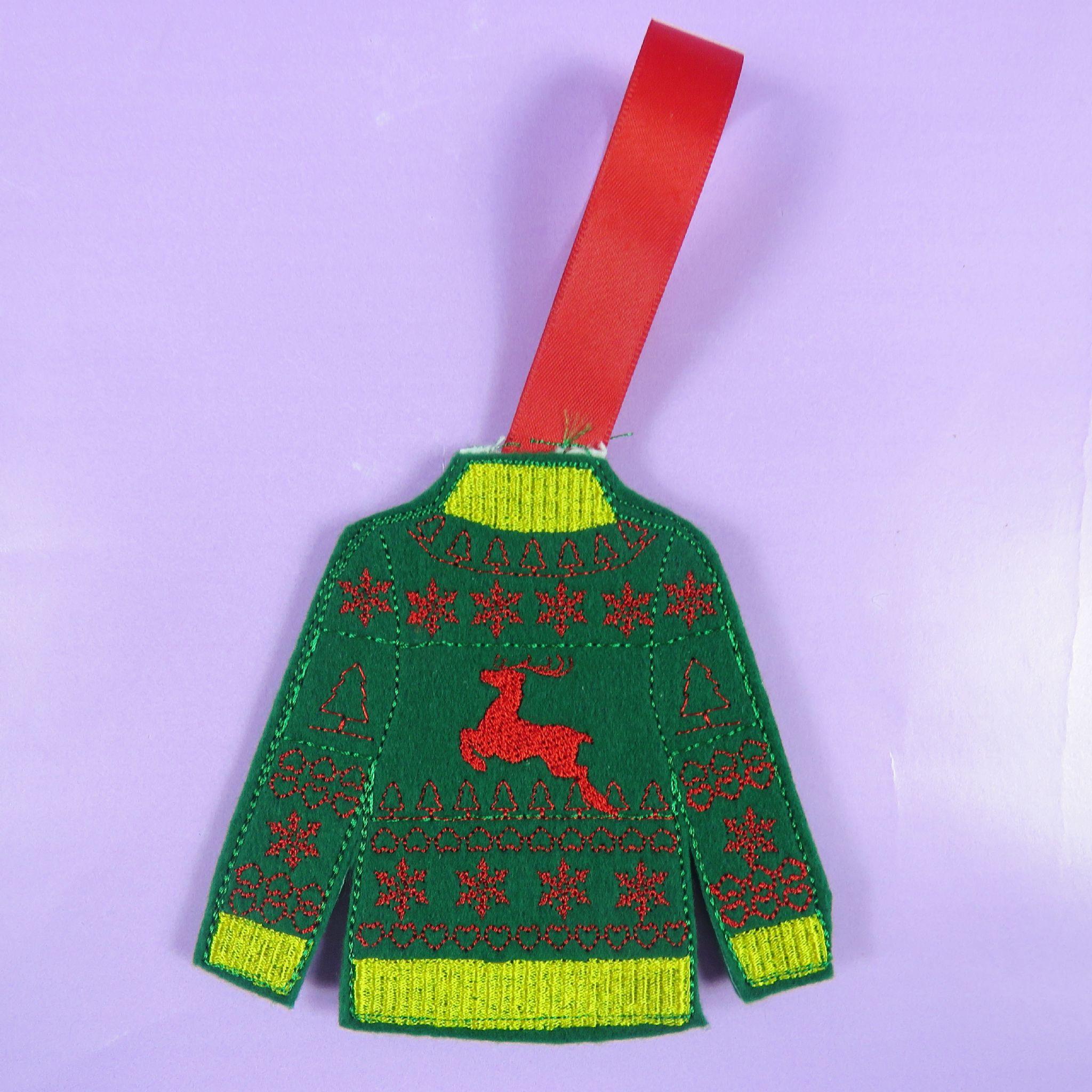 Felt Jumper Christmas Decorations Santa Xmas Decs