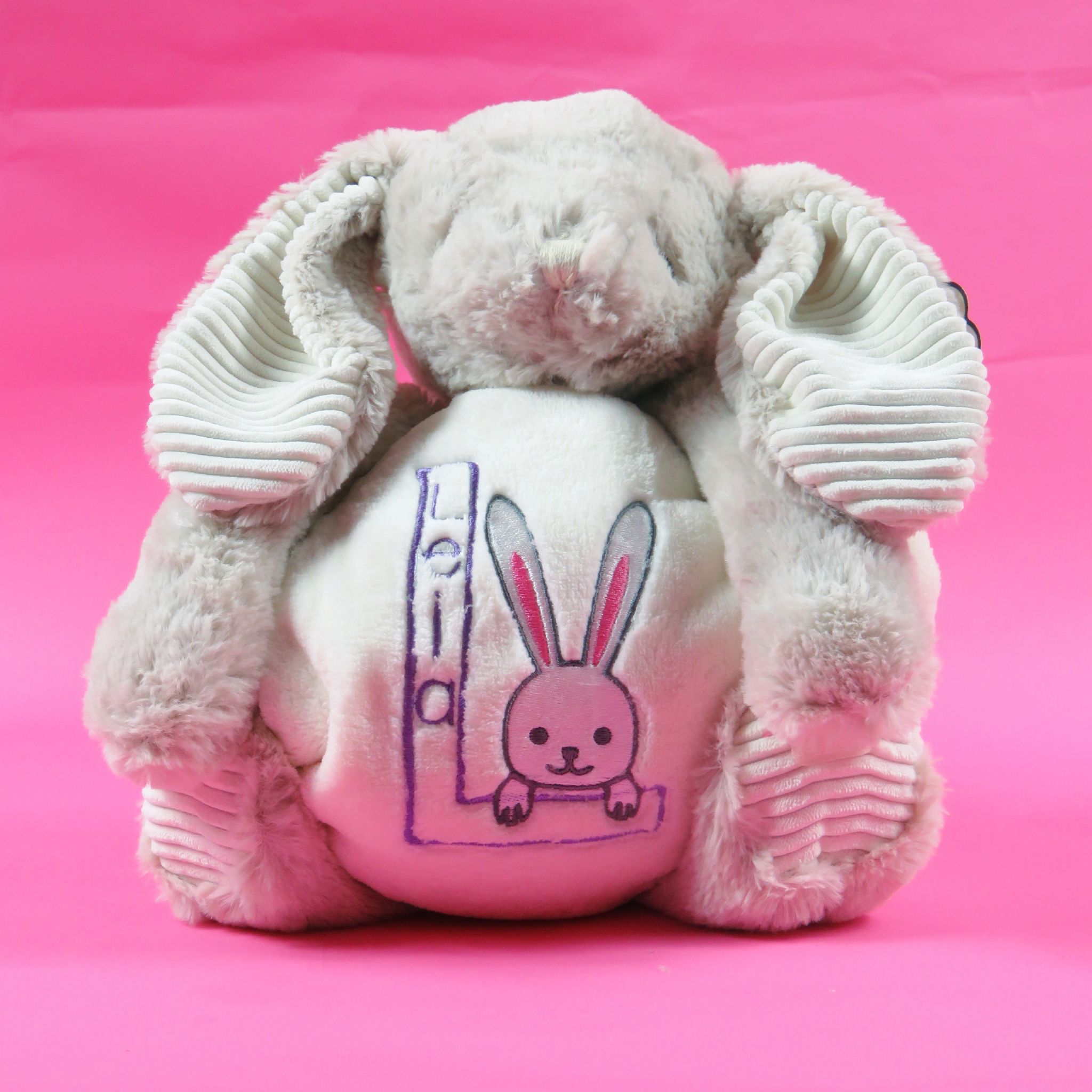Personalised rabbit soft toy and blanket embroidered new born baby personalised rabbit soft toy and blanket embroidered new born baby gift bunny easter present persona negle Image collections